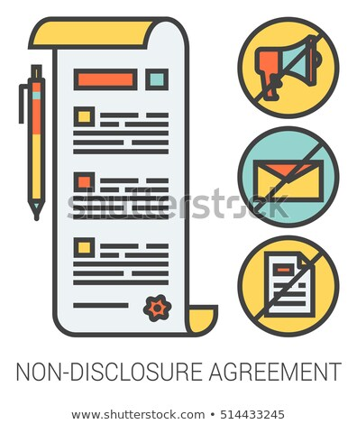 Non disclosure agreement vector concept metaphor Stock photo © RAStudio