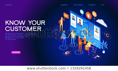 Laptop Person Identity isometric icon vector illustration Stock photo © pikepicture