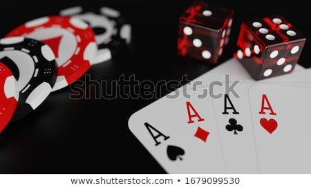 Foto stock: Cartões · coração · preto · ouro · cartão · jogo