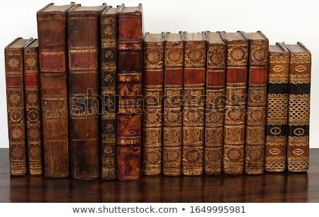 антикварный · книгах · Постоянный · шельфа · книга · образование - Сток-фото © duoduo