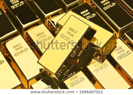 Külçe altın 3D render örnek yalıtılmış beyaz Stok fotoğraf © Spectral
