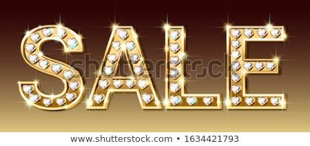 Golden heart shape inlaid with diamonds  Stock photo © Arsgera