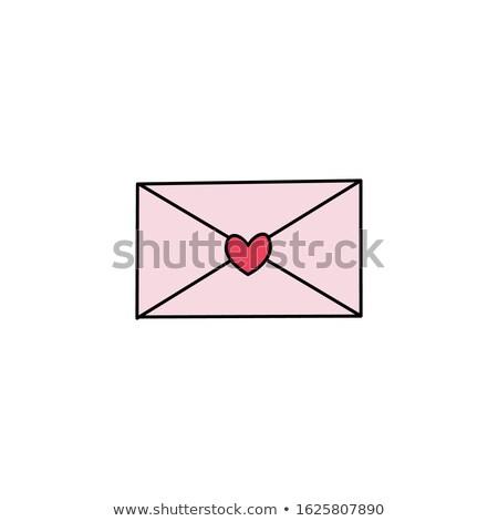 mail · post · Rood · envelop · geïsoleerd · witte - stockfoto © arsgera