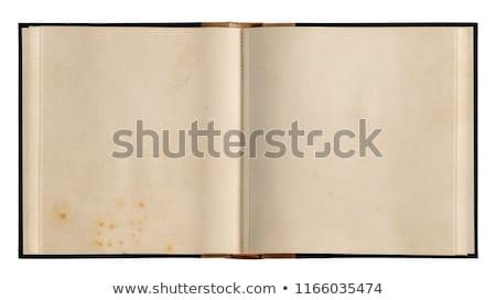 ouvrir · anciens · livre · isolé · blanche - photo stock © inxti