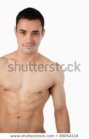 Jovem topless homem mãos corpo treinamento Foto stock © Paha_L
