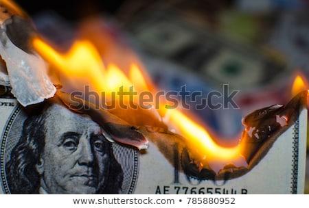ardente · dinheiro · descuidado · financeiro · piggy · bank · chamas - foto stock © paha_l