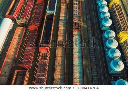 Estação de trem ferrovia estação diferente indústria serviço Foto stock © remik44992