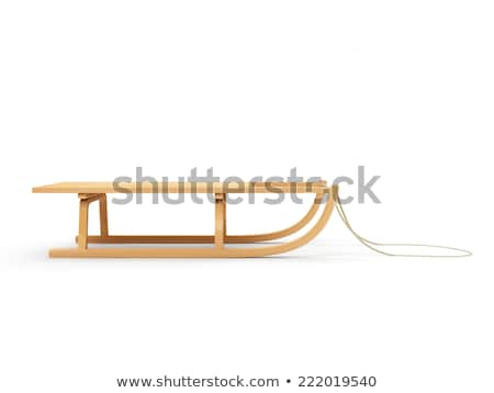 old wooden sledge with rope stock photo © pterwort