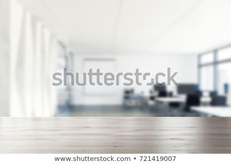 Vazio mesa de escritório cadeira ver negócio Foto stock © iofoto