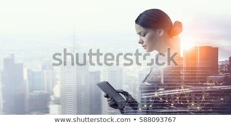 動揺 · 女性 · コンピュータ · ブロンド · 呼び出し - ストックフォト © smithore