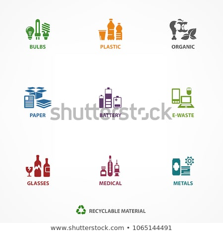 Stock photo: trashcan with electronic waste