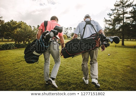 hombre · golf · bolsa · hierba · deporte · ejercicio - foto stock © photography33
