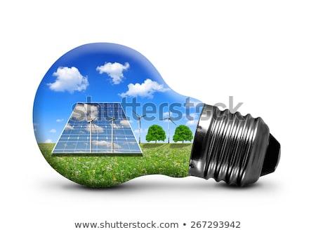 Light bulb, Solar power Stock photo © bbbar