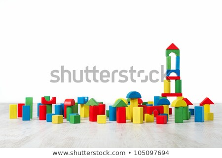 Colorful building toy tower built. Stock photo © justinb