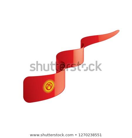 Grunge vlag Kirgizië oude vintage grunge textuur Stockfoto © HypnoCreative