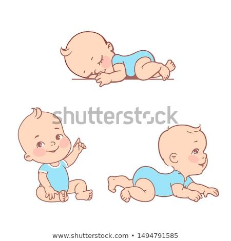 Zdjęcia stock: Stałego · baby · chłopca · pielucha · zdjęcie · biały