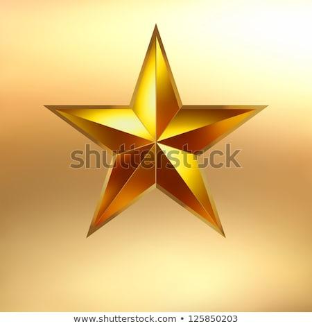 Stok fotoğraf: örnek · kırmızı · star · altın · eps · vektör