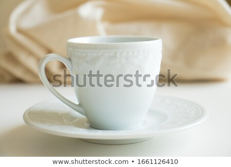 empty brown porcelain cup Stock photo © prill