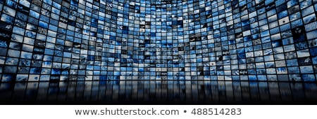 TV with images on multimedia background  Stock photo © dmitry_rukhlenko