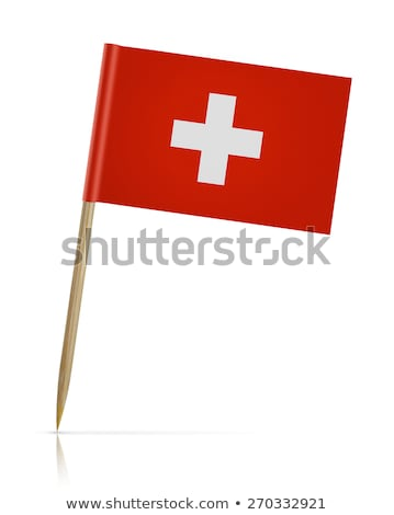 miniatura · banderą · Szwajcaria · odizolowany · spotkanie - zdjęcia stock © bosphorus
