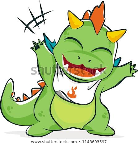 cute · dragón · mascota · Cartoon · verde · chino - foto stock © TTC