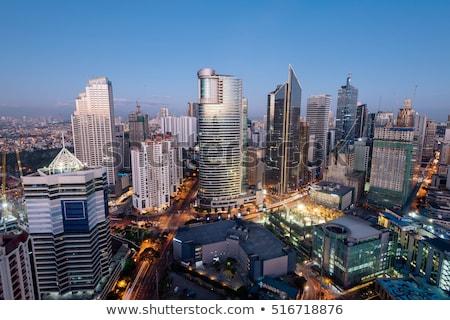 Manila ufuk çizgisi metro Filipinler gökyüzü Stok fotoğraf © joyr