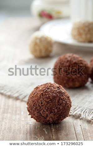 mixed truffle pralines on a plate  Stock photo © juniart