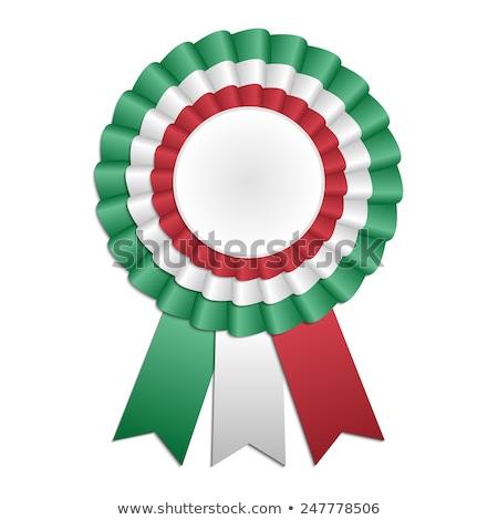 Italy Rosette flag Stock photo © milsiart