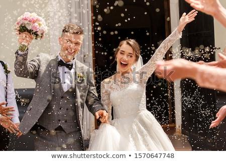 риса свадьба корзины подобно букет цветы Сток-фото © rmarinello