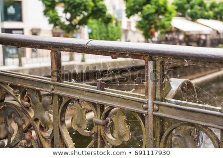 Metalen spinnenweb symbolisch spin metaal buit Stockfoto © gewoldi