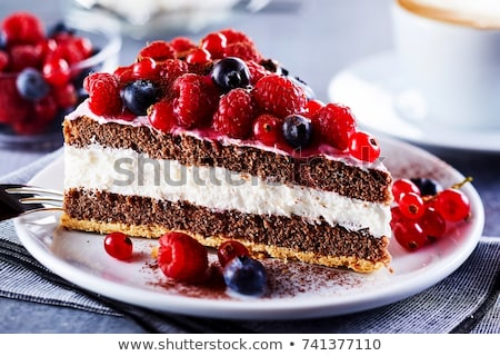 fresh berry fruit cake stock photo © keko64
