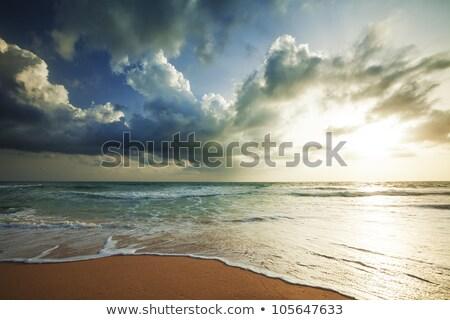Storm hdr hemel zon zonsondergang natuur Stockfoto © moses