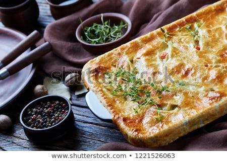 Légumes préparation alimentaire pain dîner Photo stock © M-studio