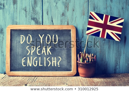Stock photo: Chalkboard - Do you speak english?