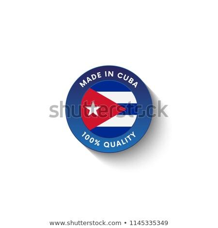 Cuba · vlag · witte · abstract · ontwerp · verf - stockfoto © perysty