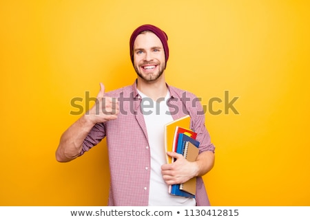students with notepads showing thumbs up Stock photo © Rob_Stark