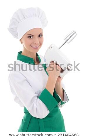 Foto stock: Mujer · eléctrica · batidor · casa · retrato