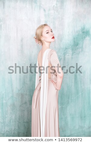 mooie · bruid · trouwjurk · witte · paraplu · poseren - stockfoto © gromovataya