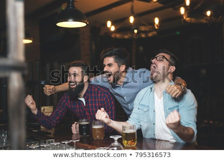 sport · fan · bier · enthousiast - stockfoto © lisafx