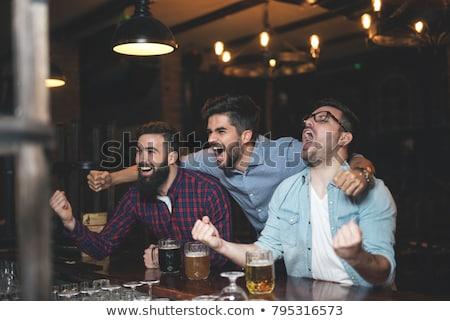 Сток-фото: спортивных · вентилятор · пива · восторженный