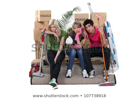Tired friends on moving day Stock photo © photography33
