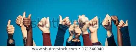 Cielo azul negocios nina resumen fondo Foto stock © inxti