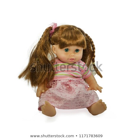 Beautiful doll with long pigtails Stock photo © Arsgera