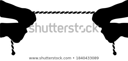 Hands pulling rope Stock photo © stevanovicigor