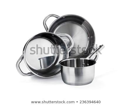 acero · inoxidable · establecer · metal · nuevos · objetos · fondo · blanco - foto stock © ozaiachin