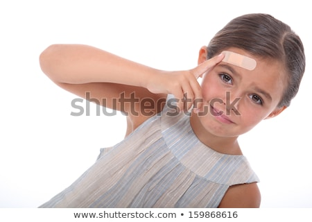 Girl with a wound on the forehead Stock photo © photography33
