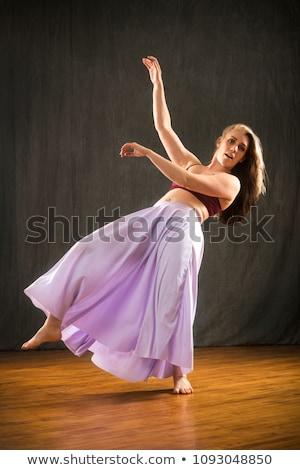 Kadın düşen geriye doğru yüz çalışmak bacaklar Stok fotoğraf © photography33