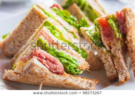 サンドイッチベーコンチキンチーズとレタス ストックフォト © ilolab