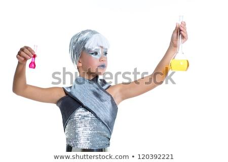 kinderen · futuristische · mode · meisje · chemische · experiment - stockfoto © lunamarina