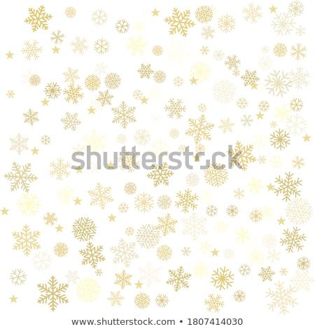 Blue and Gold Christmass background Stock photo © ozaiachin